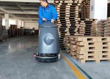Çin Electric 20m Cable Cement Compact Floor Scrubber Machine Walk Behind Type Fabrika