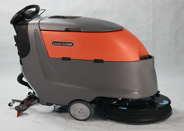 Çin Automatic Compact Floor Scrubber Machine With Multiple Water Injectors Fabrika