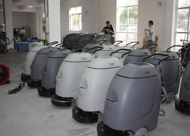 Çin Electronic Walk Behind Automatic Scrubber Floor Machine With 17 Inch Single Brush Fabrika